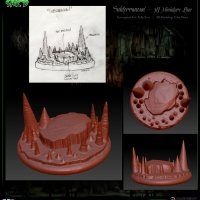SAK'D 3D Printed Miniature Figure Base - Cavern